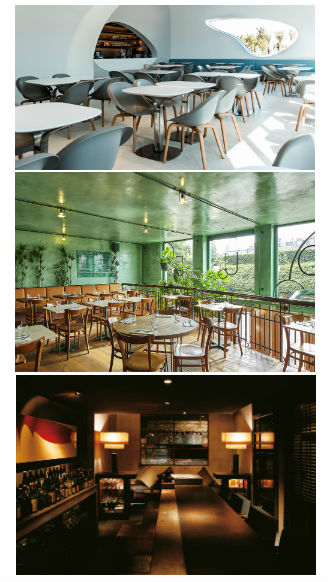 Restaurant Design Inspiration using 'cool' colours